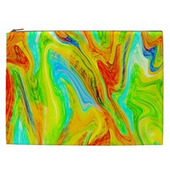 Happy Multicolor Painting Cosmetic Bag (xxl)