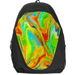 Happy Multicolor Painting Backpack Bag Front