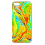 Happy Multicolor Painting Apple Seamless iPhone 5 Case (Clear) Front