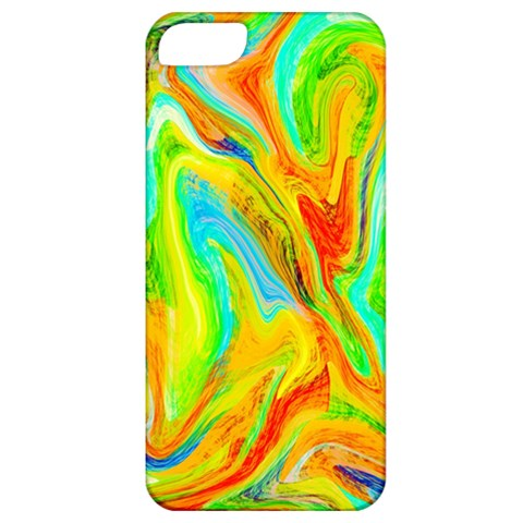Happy Multicolor Painting Apple iPhone 5 Classic Hardshell Case