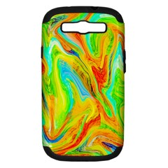 Happy Multicolor Painting Samsung Galaxy S III Hardshell Case (PC+Silicone)