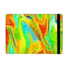 Happy Multicolor Painting Apple Ipad Mini Flip Case