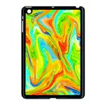 Happy Multicolor Painting Apple iPad Mini Case (Black) Front