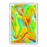 Happy Multicolor Painting Apple iPad Mini Case (White) Front
