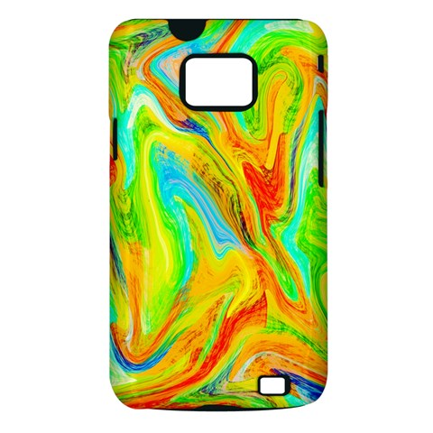 Happy Multicolor Painting Samsung Galaxy S II i9100 Hardshell Case (PC+Silicone)
