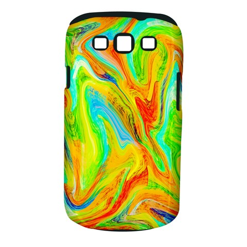 Happy Multicolor Painting Samsung Galaxy S III Classic Hardshell Case (PC+Silicone)