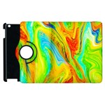 Happy Multicolor Painting Apple iPad 2 Flip 360 Case Front