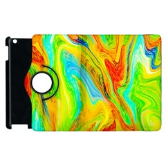 Happy Multicolor Painting Apple iPad 3/4 Flip 360 Case