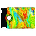 Happy Multicolor Painting Apple iPad 3/4 Flip 360 Case Front