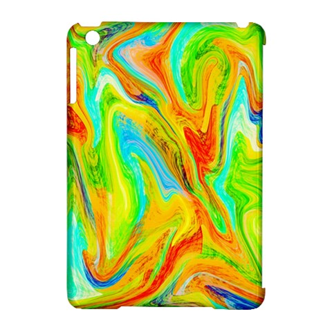 Happy Multicolor Painting Apple iPad Mini Hardshell Case (Compatible with Smart Cover)