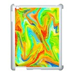 Happy Multicolor Painting Apple iPad 3/4 Case (White) Front