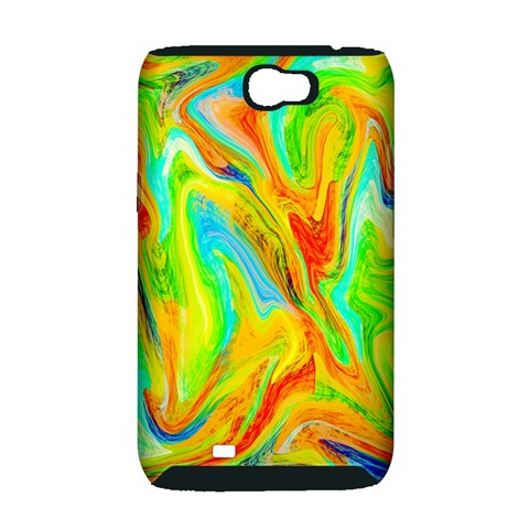 Happy Multicolor Painting Samsung Galaxy Note 2 Hardshell Case (PC+Silicone)