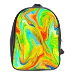 Happy Multicolor Painting School Bags (XL)  Front