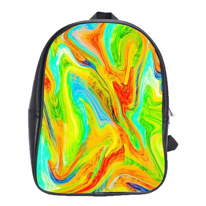 Happy Multicolor Painting School Bags (XL)