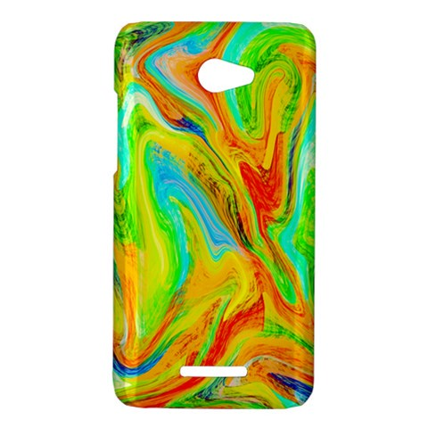 Happy Multicolor Painting HTC Butterfly X920E Hardshell Case
