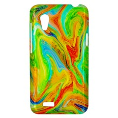 Happy Multicolor Painting HTC Desire VT (T328T) Hardshell Case