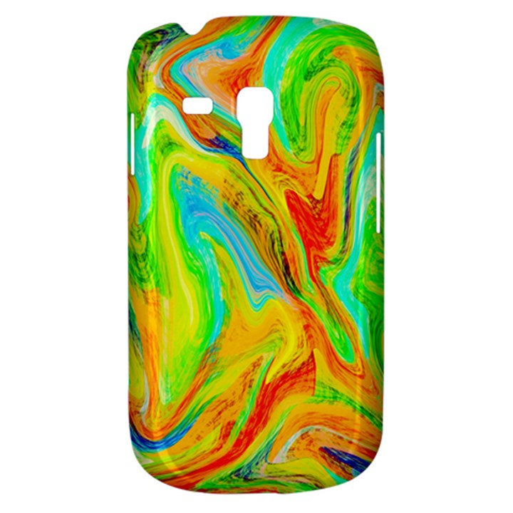 Happy Multicolor Painting Samsung Galaxy S3 MINI I8190 Hardshell Case