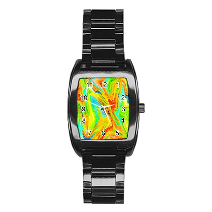 Happy Multicolor Painting Stainless Steel Barrel Watch