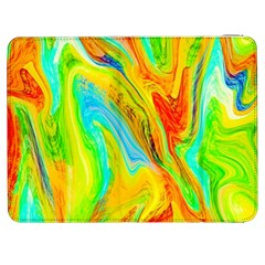 Happy Multicolor Painting Samsung Galaxy Tab 7  P1000 Flip Case