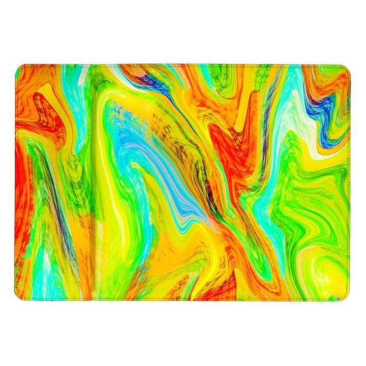 Happy Multicolor Painting Samsung Galaxy Tab 10.1  P7500 Flip Case