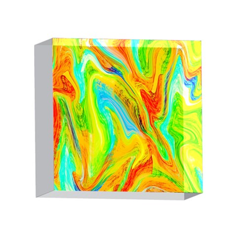 Happy Multicolor Painting 4 x 4  Acrylic Photo Blocks