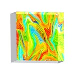 Happy Multicolor Painting 4 x 4  Acrylic Photo Blocks Front