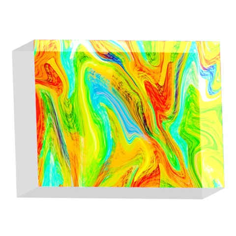 Happy Multicolor Painting 5 x 7  Acrylic Photo Blocks