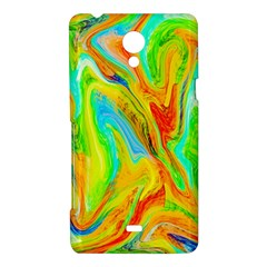 Happy Multicolor Painting Sony Xperia T