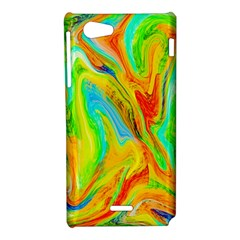 Happy Multicolor Painting Sony Xperia J