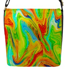 Happy Multicolor Painting Flap Messenger Bag (s)