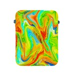 Happy Multicolor Painting Apple iPad 2/3/4 Protective Soft Cases Front