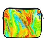 Happy Multicolor Painting Apple iPad 2/3/4 Zipper Cases Front