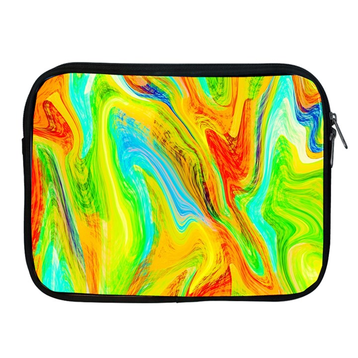 Happy Multicolor Painting Apple iPad 2/3/4 Zipper Cases