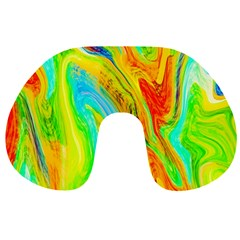 Happy Multicolor Painting Travel Neck Pillows