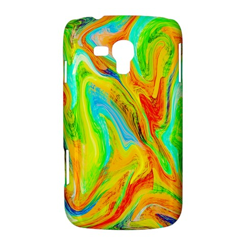 Happy Multicolor Painting Samsung Galaxy Duos I8262 Hardshell Case