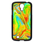 Happy Multicolor Painting Samsung Galaxy S4 I9500/ I9505 Case (Black) Front