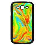 Happy Multicolor Painting Samsung Galaxy Grand DUOS I9082 Case (Black) Front