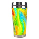 Happy Multicolor Painting Stainless Steel Travel Tumblers Left