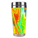 Happy Multicolor Painting Stainless Steel Travel Tumblers Right