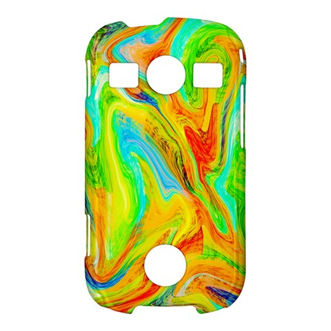 Happy Multicolor Painting Samsung Galaxy S7710 Xcover 2 Hardshell Case