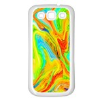 Happy Multicolor Painting Samsung Galaxy S3 Back Case (White) Front