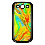 Happy Multicolor Painting Samsung Galaxy S3 Back Case (Black) Front