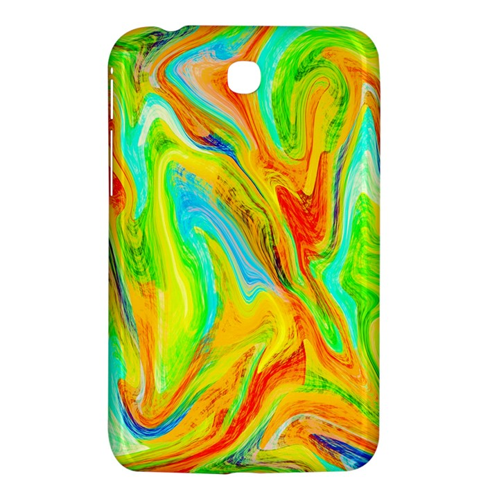 Happy Multicolor Painting Samsung Galaxy Tab 3 (7 ) P3200 Hardshell Case