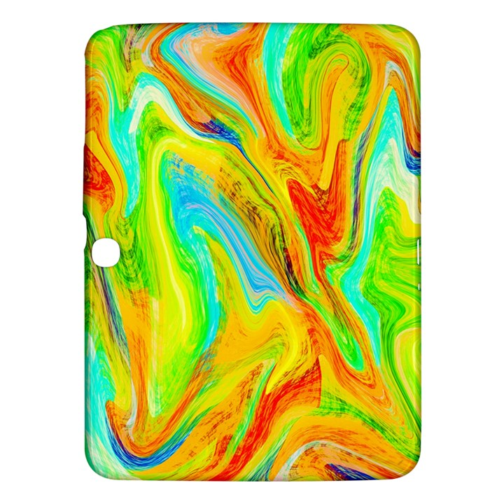 Happy Multicolor Painting Samsung Galaxy Tab 3 (10.1 ) P5200 Hardshell Case