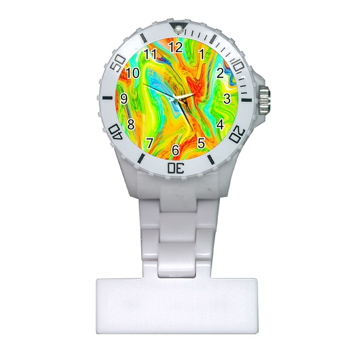Happy Multicolor Painting Plastic Nurses Watch