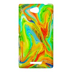 Happy Multicolor Painting Sony Xperia C (S39H)