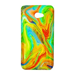 Happy Multicolor Painting HTC Butterfly S/HTC 9060 Hardshell Case