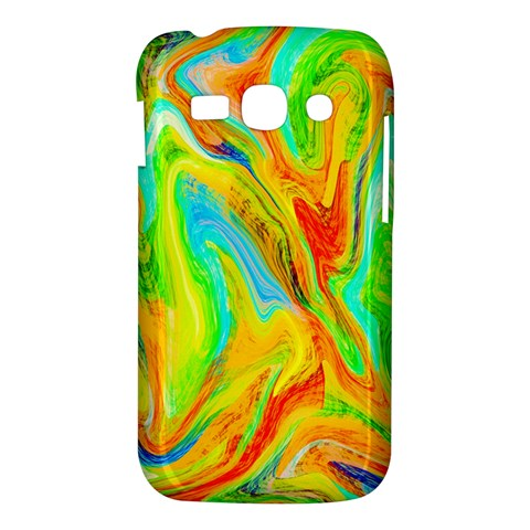 Happy Multicolor Painting Samsung Galaxy Ace 3 S7272 Hardshell Case