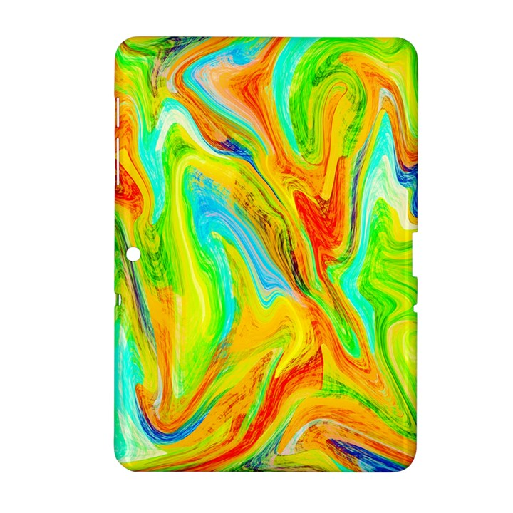 Happy Multicolor Painting Samsung Galaxy Tab 2 (10.1 ) P5100 Hardshell Case