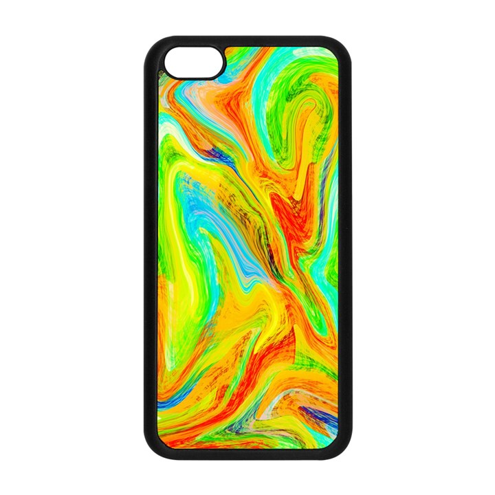 Happy Multicolor Painting Apple iPhone 5C Seamless Case (Black)